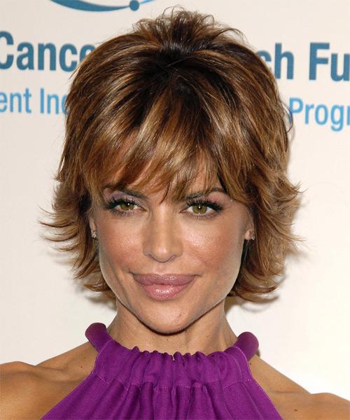 Lisa Rinna short shag hairstyle