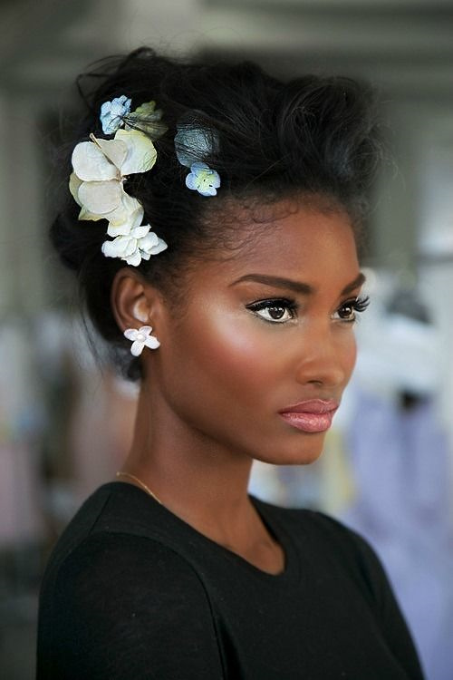 Black hairstyles for a wedding updo