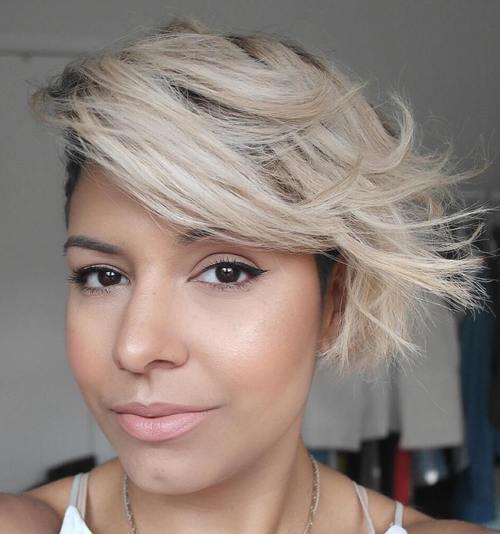 short sassy asymmetrical hairstyle