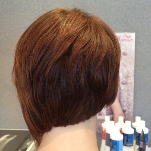 short asymmetrical layered haircut
