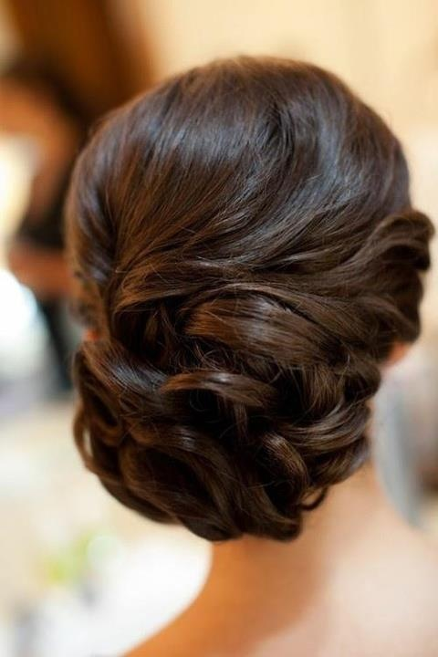 chic prom updo long hair