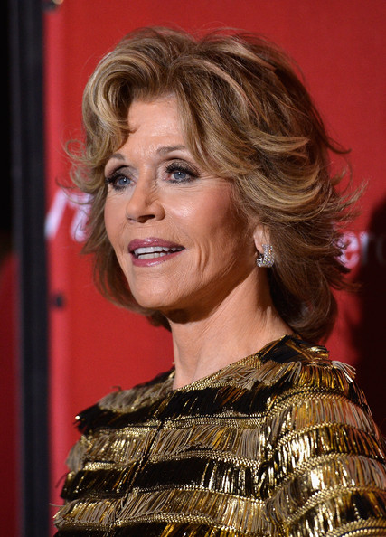 Jane Fonda sassy hairstyle