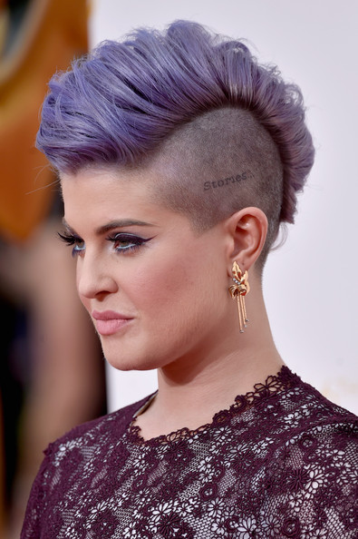 Kelly Osbourne purple Mohawk