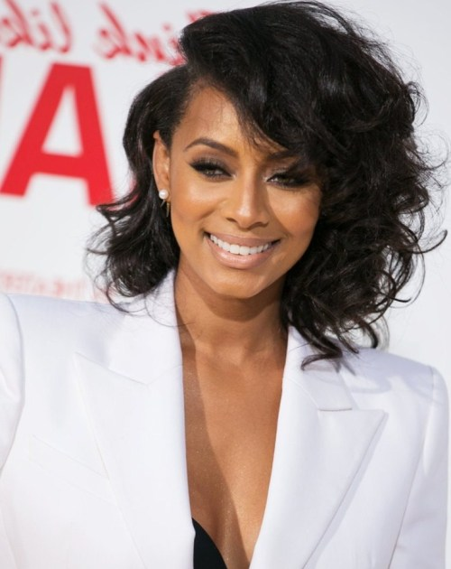 long curly black bob haircut