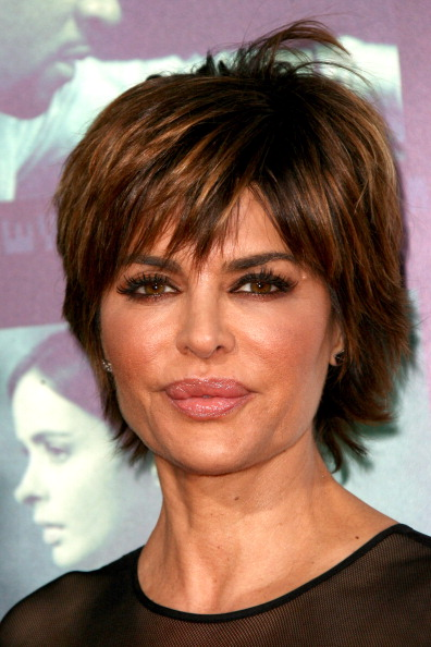 Lisa Rinna short hairstyle with flicks