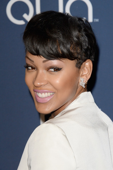 Meagan Good African American short pixie hairstyle