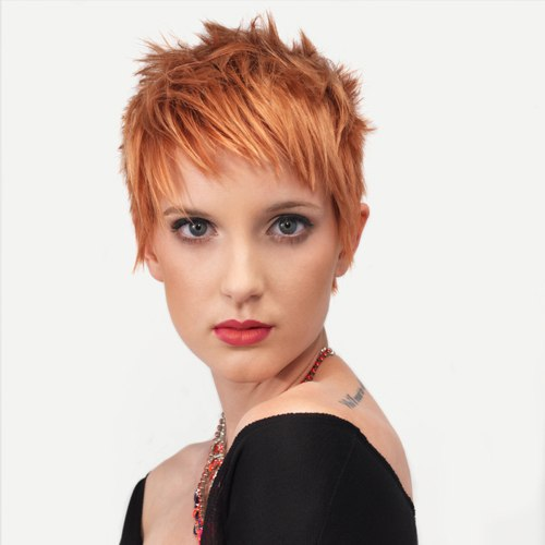 Ideal short style for ginger hair