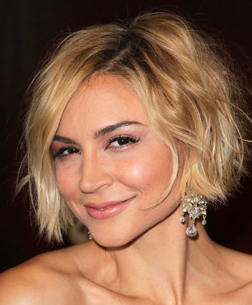 Short bob for an angular face shape