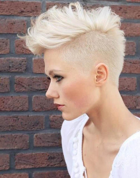 short mohawk blond