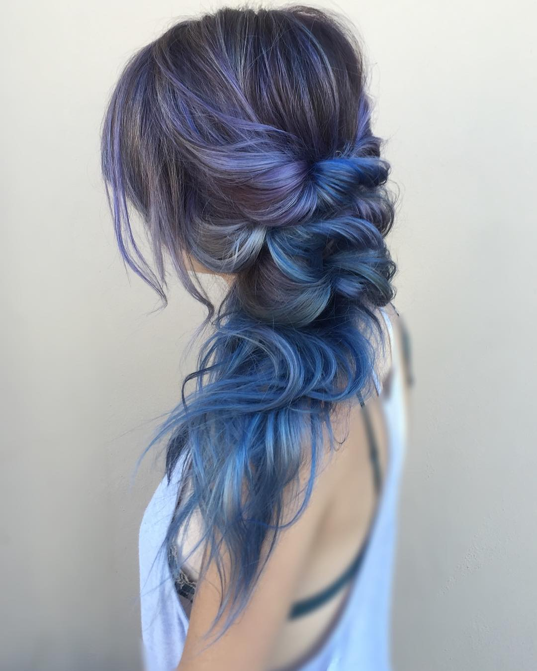Purple And Blue Balayage For Brown Hair