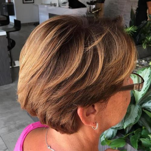 Short Layered Hairstyle For 50+ Women