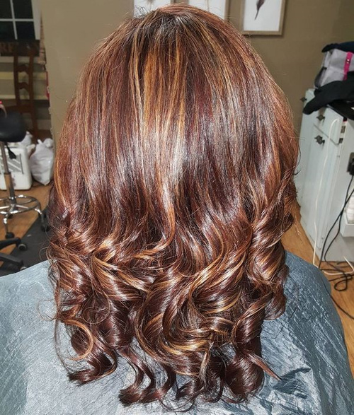 Caramel Highlights For Mahogany Hair