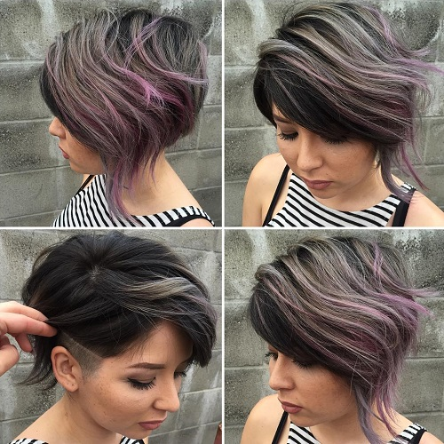 Short Asymmetrical Balayage Hairstyle