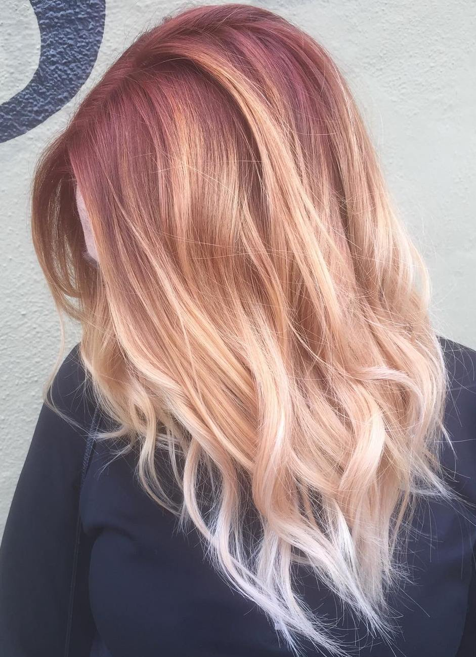 Blonde to Pink Ombre Hair