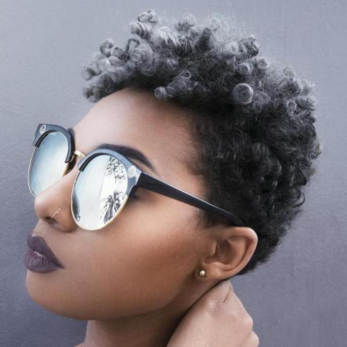 Short Natural Tapered Haircut