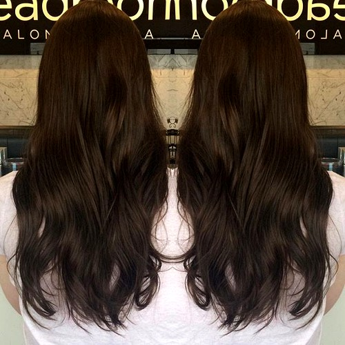 Dark chocolate brown hair color with blonde highlights trendy dark chocolate brown hair color with blonde highlights pmusecretfo Images