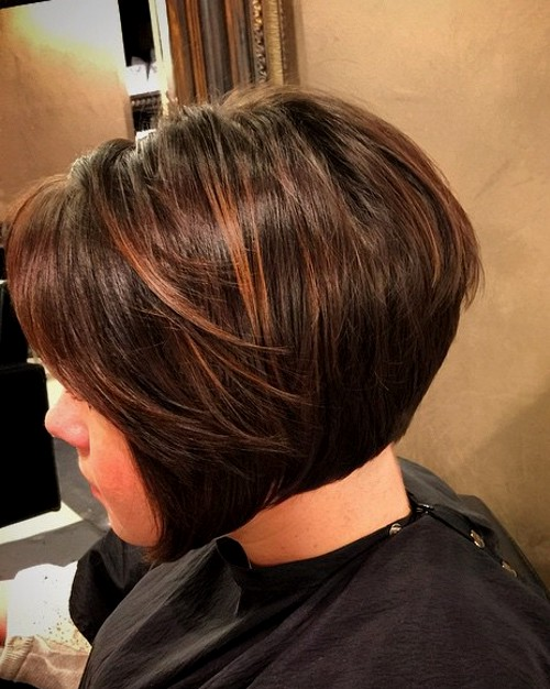 brown bob with red babylights