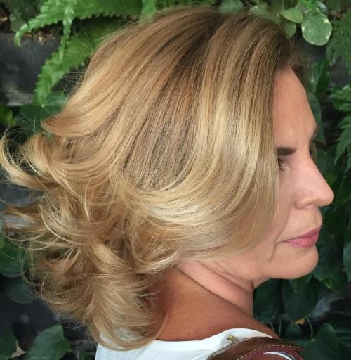 Medium Length Brown Blonde 50+ Hairstyle