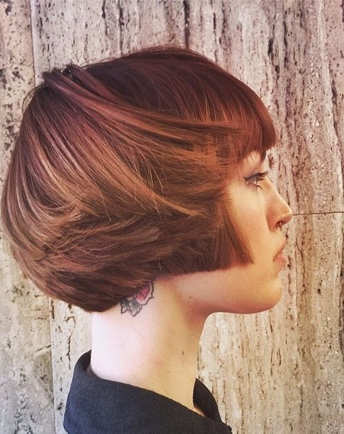 angled bob for thin hair