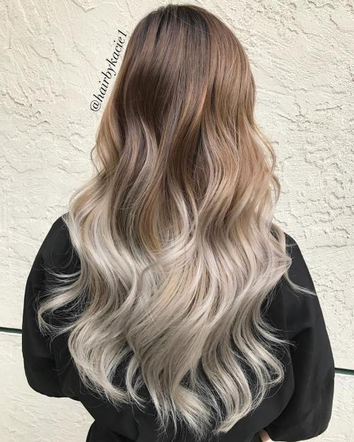 Long Brown To Blonde Ombre