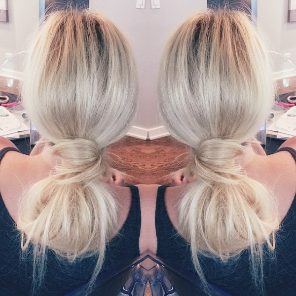 Low Lopped Pony For Long Hair
