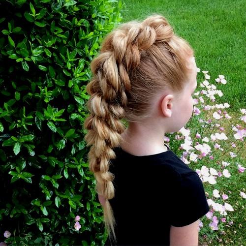 braided Mohawk for little girls