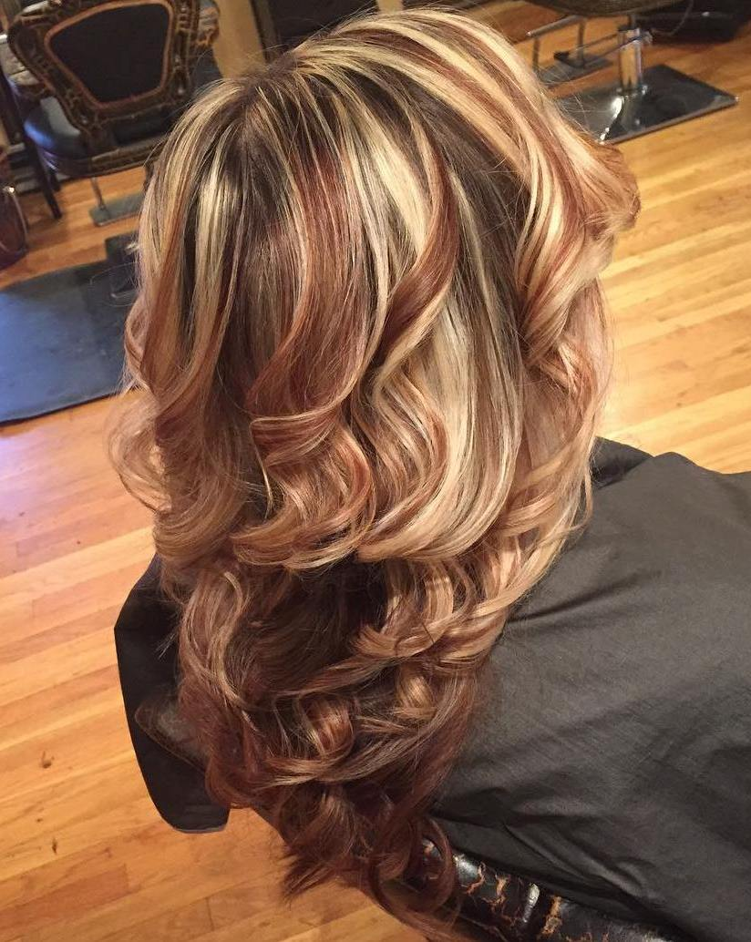 Copper and blonde highlights in brown hair trendy hairstyles in copper and blonde highlights in brown hair pmusecretfo Choice Image