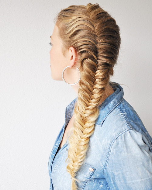 40 awesome jazzed up fishtail braid hairstyles for Fish tail hair