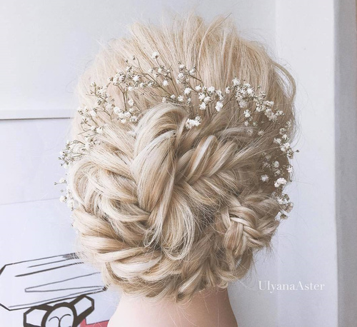 fishtail updo for blonde hair