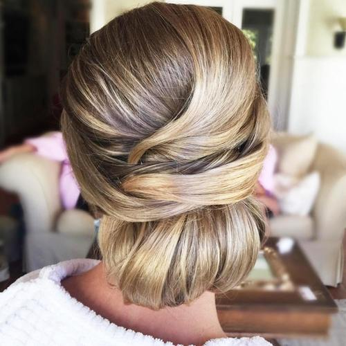 formal low chignon updo