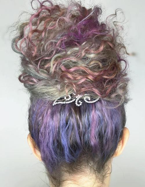Voluminous Curly Bun