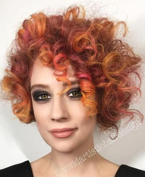 Curly Messy Red Hairstyle