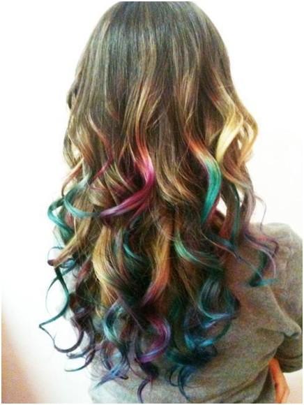 multi-colored ombre