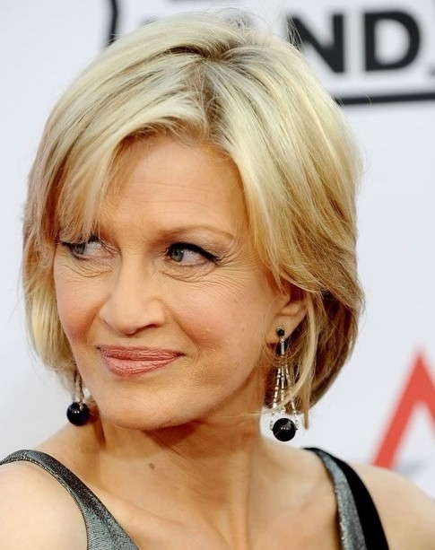 short blonde hairstyle for women over 50