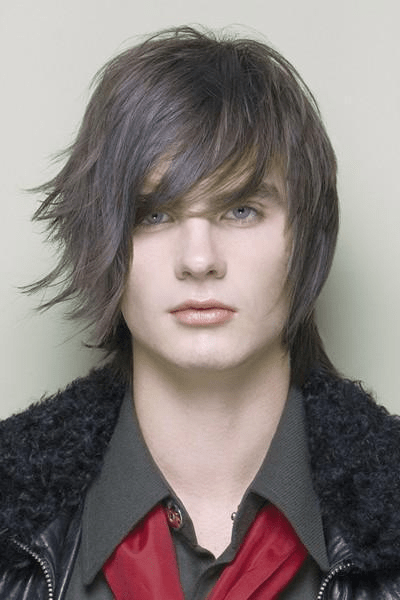 long layered hairstyle for men