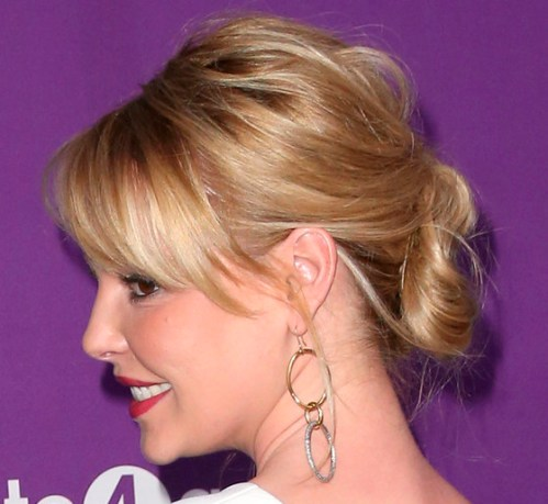 Catherine Heigl updo for medium fine hair