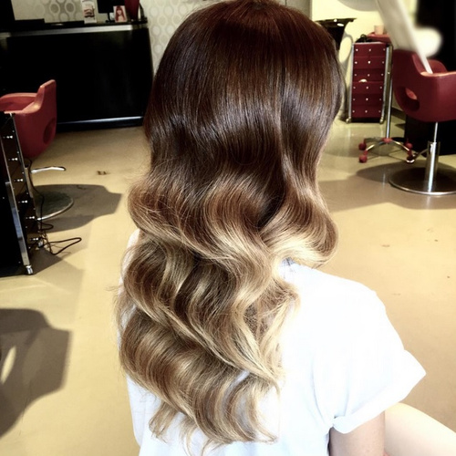 soft brown ombre hair style