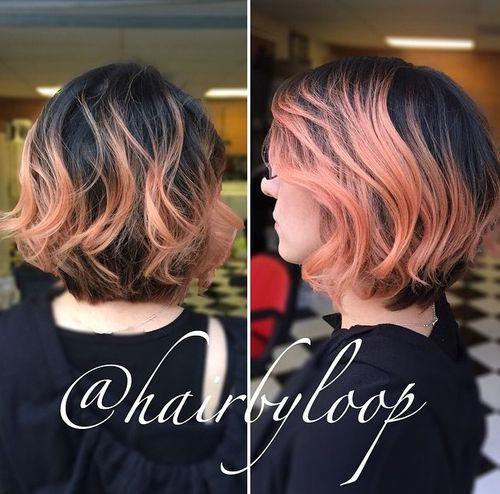 wavy bob hairstyle