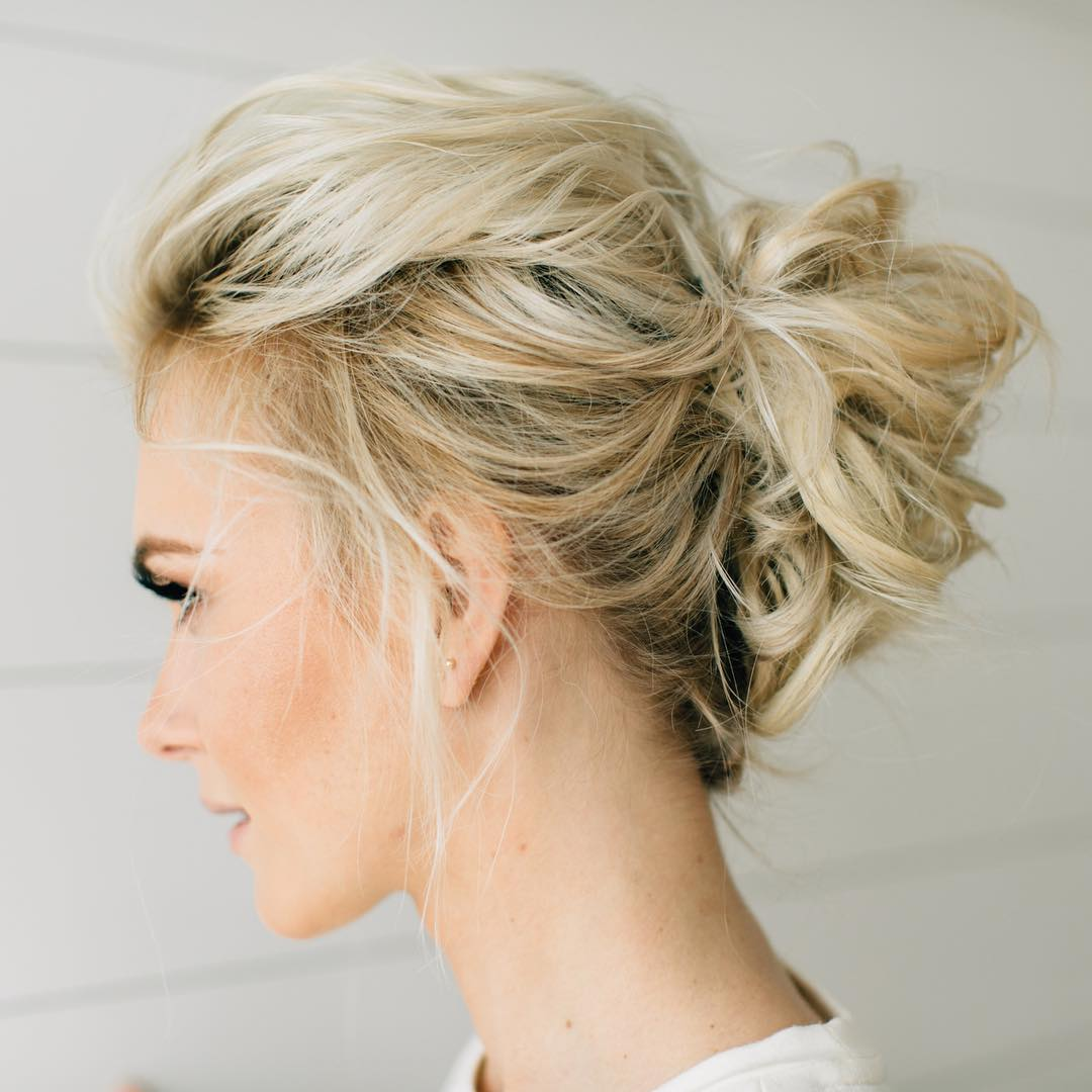 Messy Blonde Updo