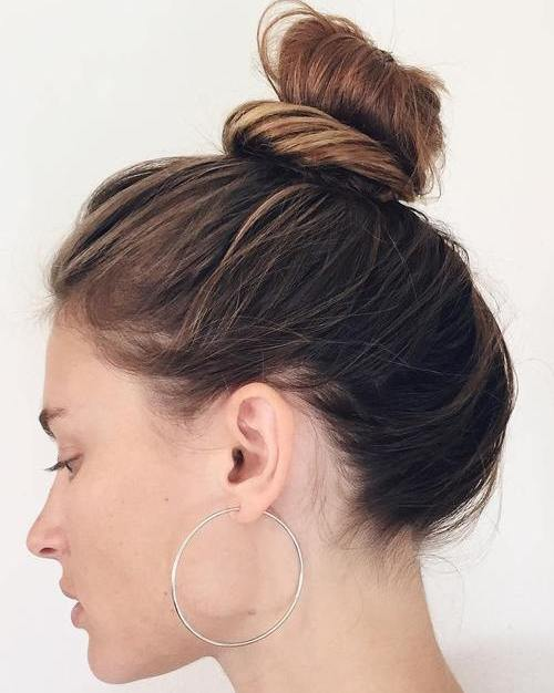 top knot for thin hair