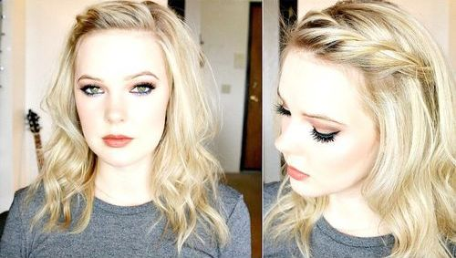 easy tousled hairstyle with a twist