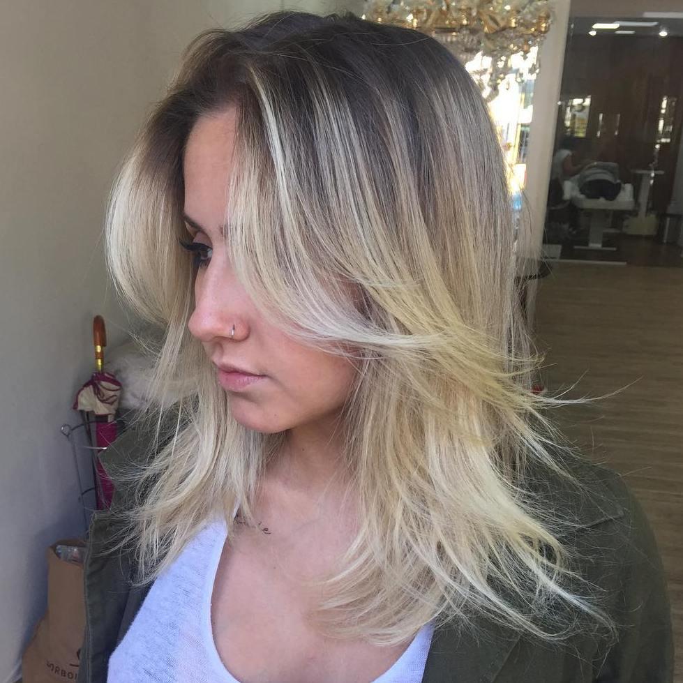 Shaggy Medium Haircut For Thin Hair