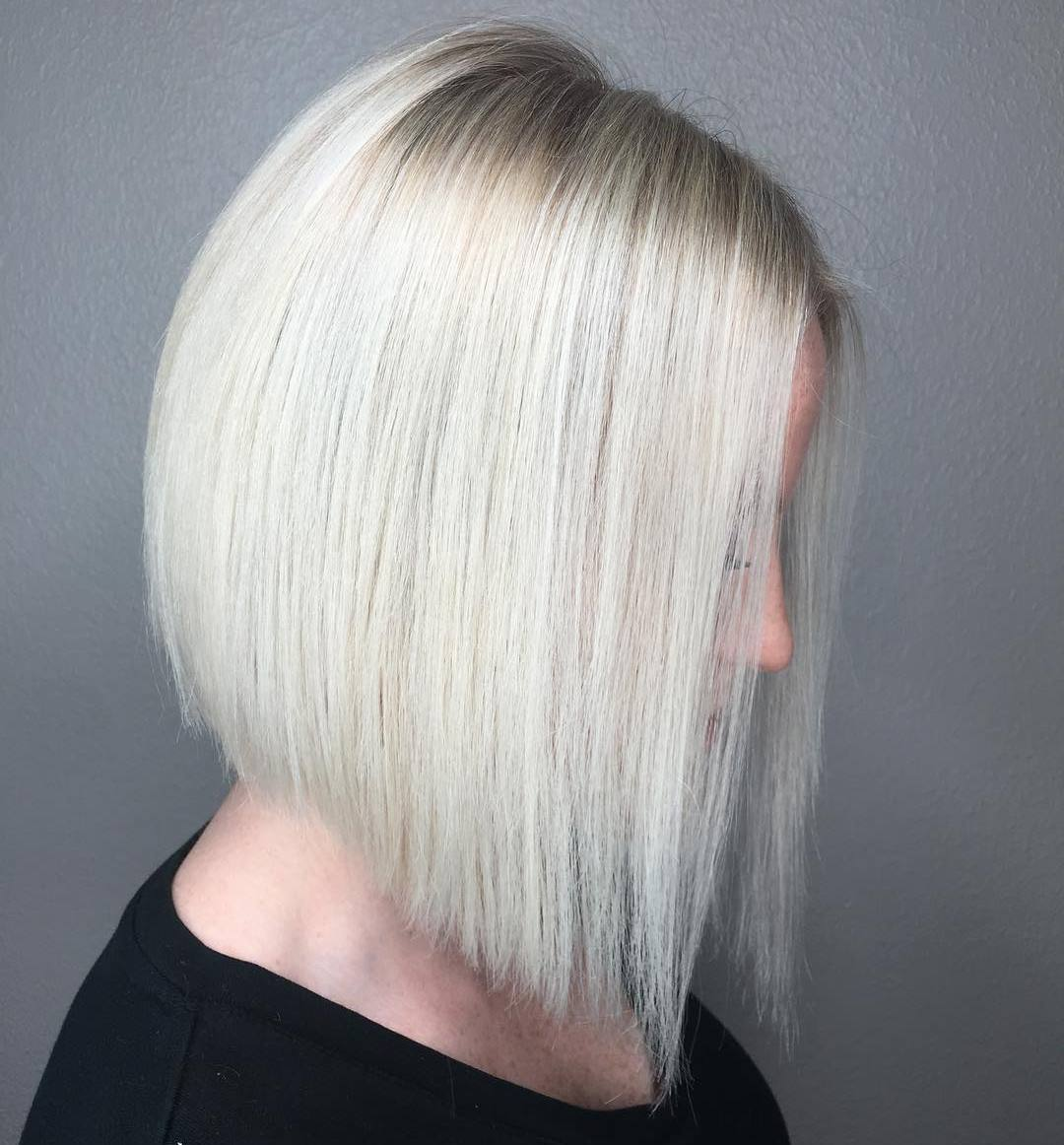 Silver Blonde Angled Lob