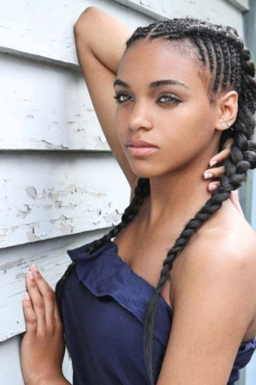 Two Cornrow Braids Hairstyles for Black Women