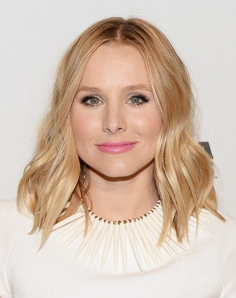 Kristen Bell lob for fine hair