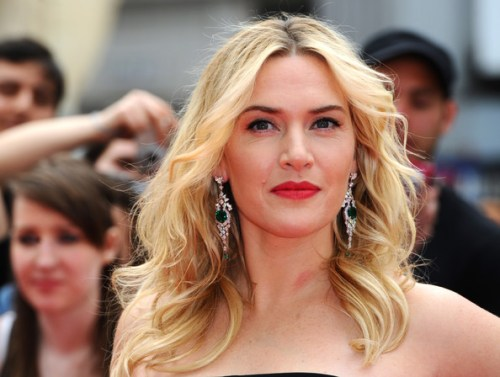 Kate Winslet curly hairstyle for thin hair
