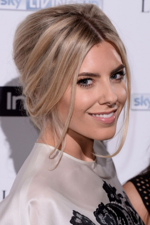 Mollie King messy updo