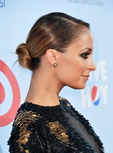 Nicole Richie sleek updo hairstyle