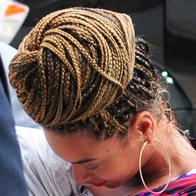 Top 35 Box Braids Updo Hairstyles