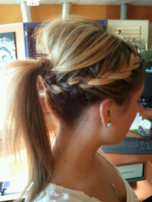 braided ponytail for fine hair